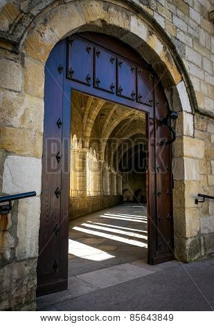 Santander Cathedral, Access Door To The Cloister
