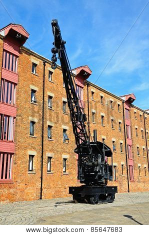 Black crane, Gloucester docks.