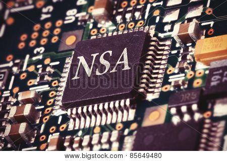 Conceptual image of a NSA processor inside a computer.