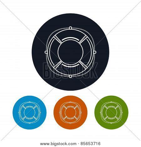 Icon Lifebuoy,  Vector Illustration