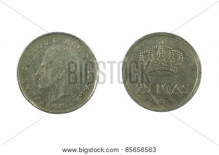 Coin Spain Isolated