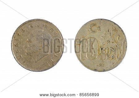 Turkey Coin On White