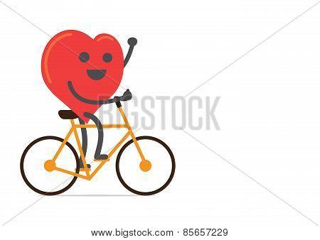 Strong heart biking