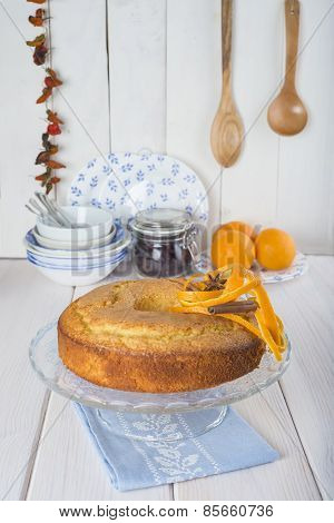 Homemade Orange Sponge Cake