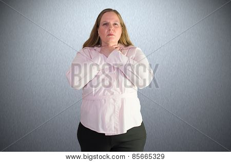 A woman feels like a stranglehold and is afraid