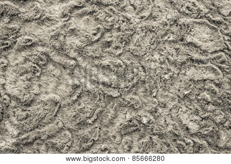 Texture Of Abstract Beige-haired Fur Fabric