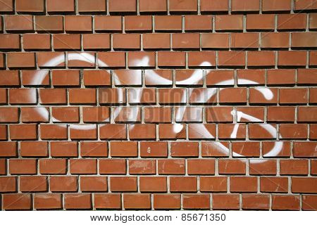 Phrase Omg Letter Type On A Brick Wall As Background