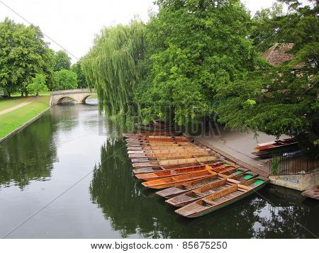 Boats on river in Cambridge
