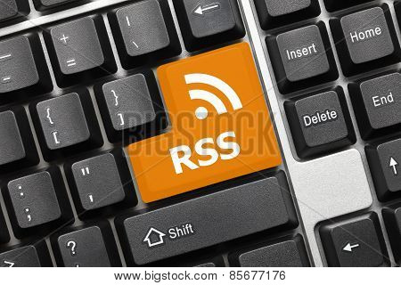 Conceptual Keyboard - Rss (key With Logotype)