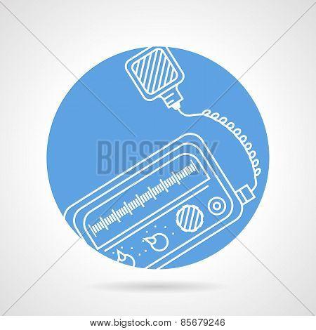 Radio transceiver round vector icon