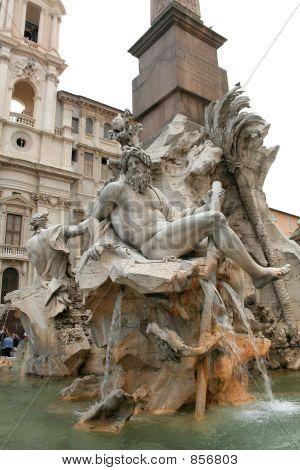 Piazza Navona Fountain, Rome