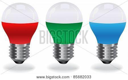 set of LED light bulbs