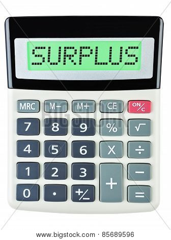 Calculator With Surplus