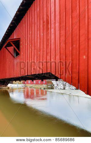 Covered Bridge At Bridgeton
