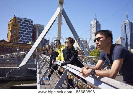 Travellers On Bridge