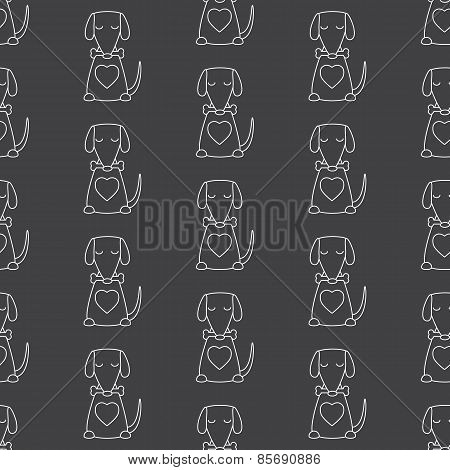 Pattern With Dog And Bone