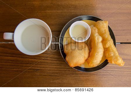 soybean milk with deep-fried doughstick Yunnan breakfast,Thailand poster