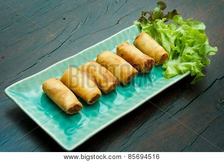deep fried spring rolls