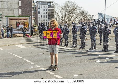 People Demonstrate Against Ezb And Capitalism