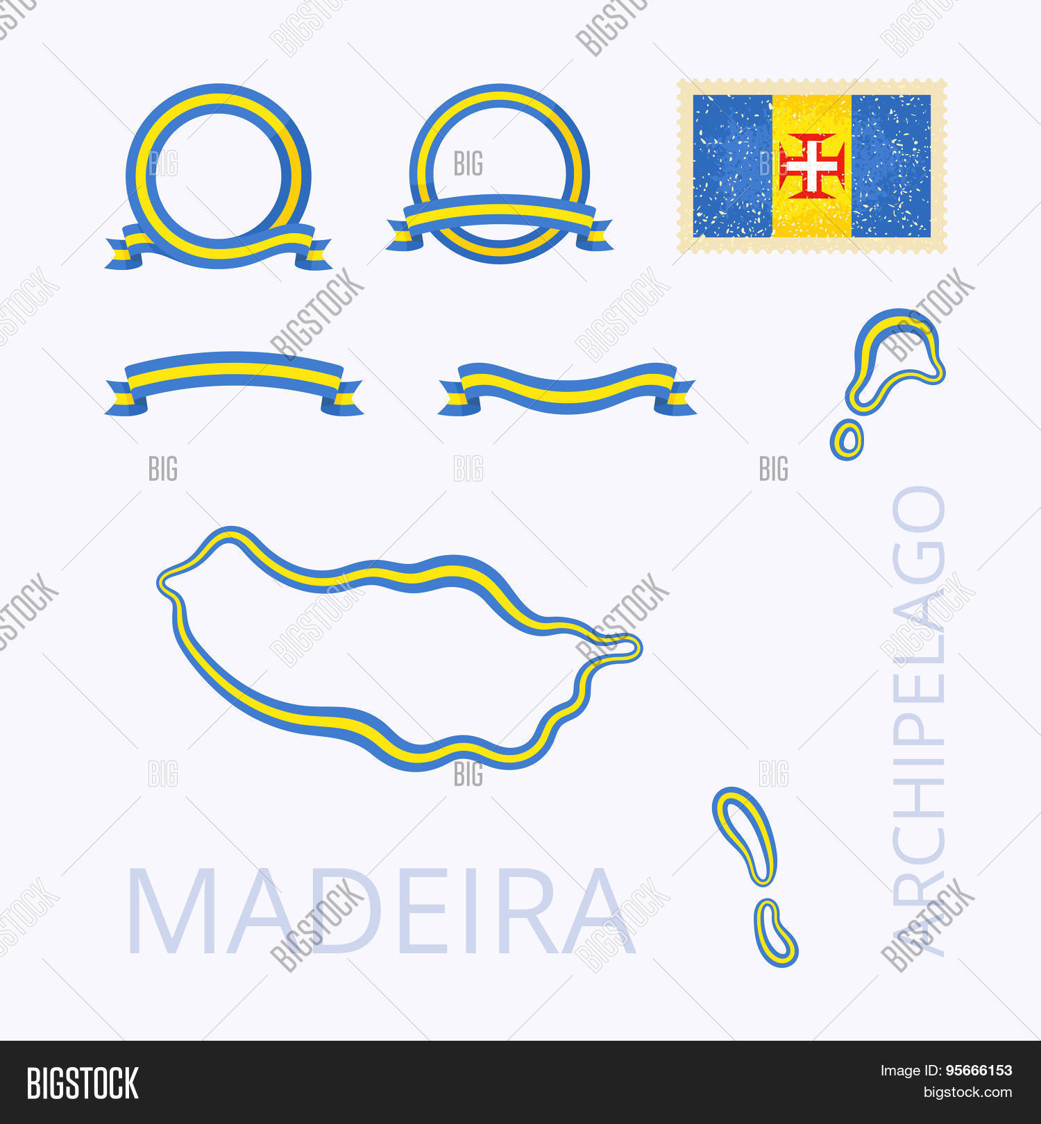 Outline Map Madeira Vector Photo Free Trial Bigstock - Package of map colors