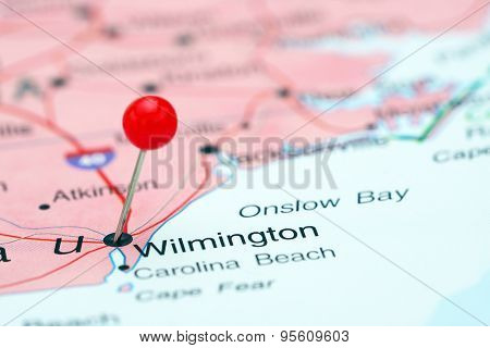 Wilmington pinned on a map of USA