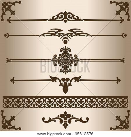Decorative lines.
