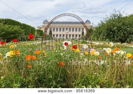 City Park Jardin Des Plants With Natural History Museum In Paris