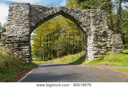 The Jubilee Arch, Old Graceful Stone Archway Over Minor Road.