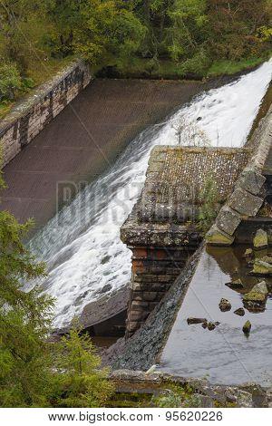 Unfinished Dam Foundations Dol-y-mynach.