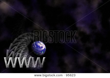 WWW And Earth Background