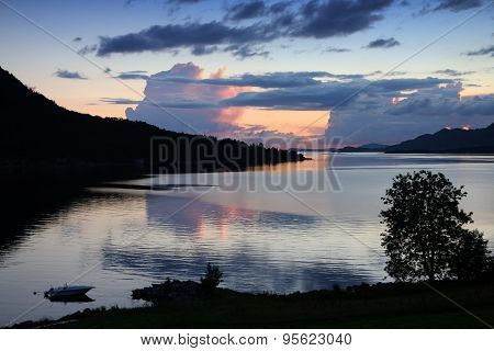 Fiord Sunset In Norway