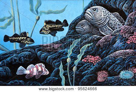 Deep sea mural