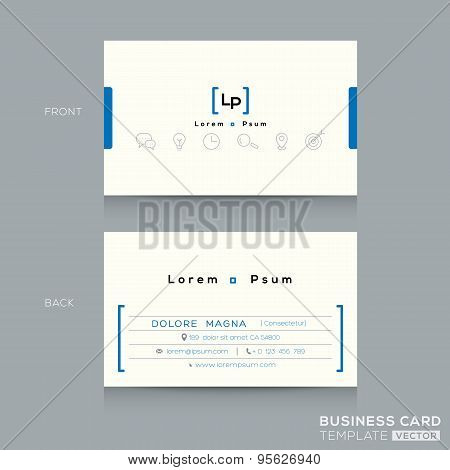 Minimal Clean Design Business Card Template