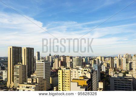Aerial View Of Curitiba, Parana, Brazil