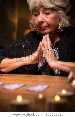 Magic Woman During Spiritualistic Seance