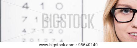 Optician Wearing Eyeglasses