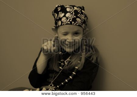 Pirate Girl Wink