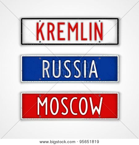 The Russia Style Car Signs