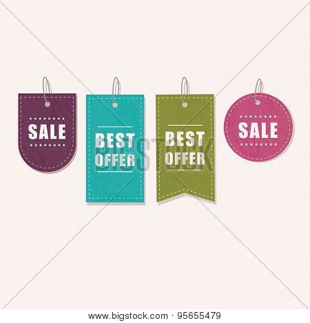 Vector -  colorful sale tag for discount shop