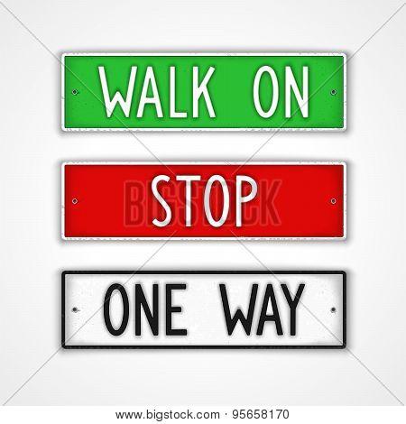 Set Of Signboard Motivation