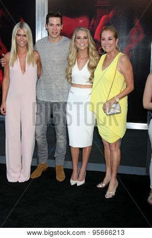 LOS ANGELES - JUL 7:  Lauren Scruggs, Jason Kennedy, Cassidy Gifford, Kathie Lee Gifford at the