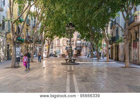 Square in the Barcelona borough Ciutat Vell