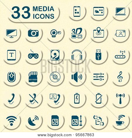 Jeans media icons