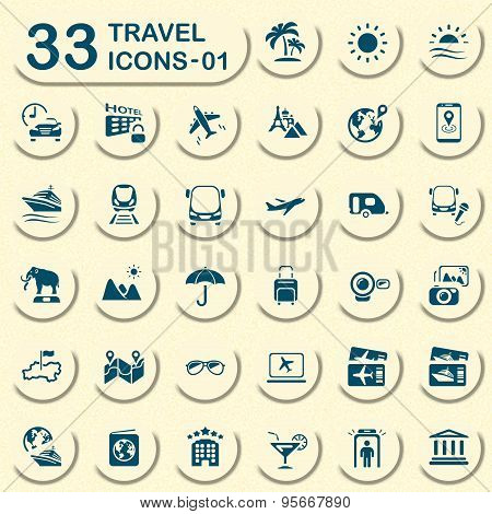 Jeans travel icons