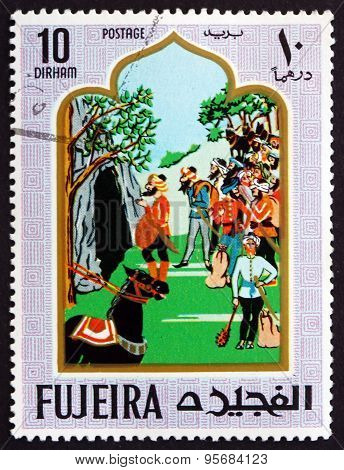 Postage Stamp Fujeira 1967 Ali Baba And The Forty Thieves