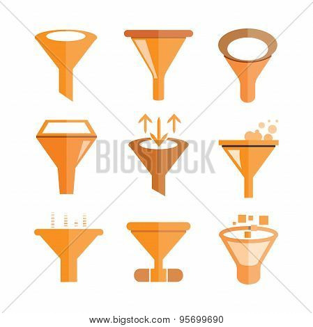 filter, funnel icons