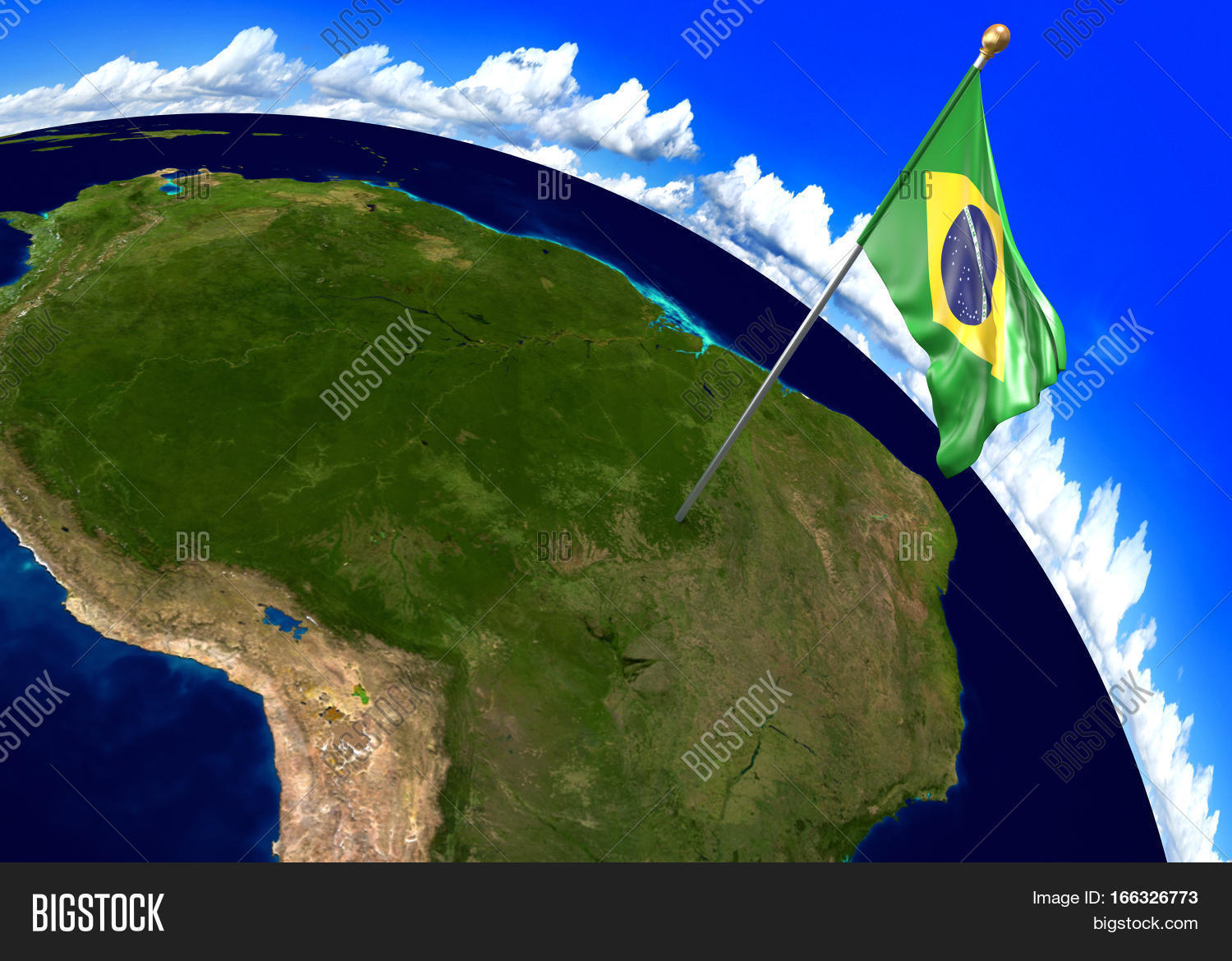 Brazil national flag image photo free trial bigstock brazil national flag marking the country location on world map 3d rendering parts of gumiabroncs Choice Image