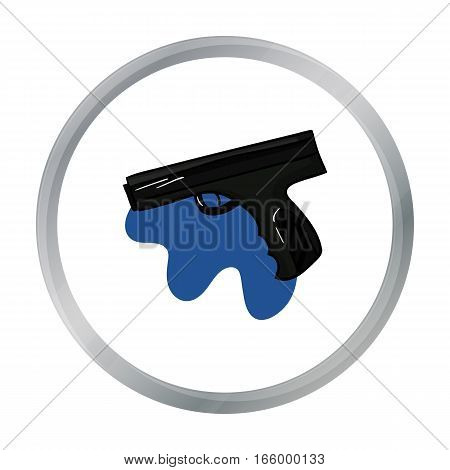 Paintball hand gun icon in cartoon design isolated on white background. Paintball symbol stock vector illustration. - stock vector