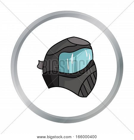 Paintball mask icon in cartoon design isolated on white background. Paintball symbol stock vector illustration. - stock vector