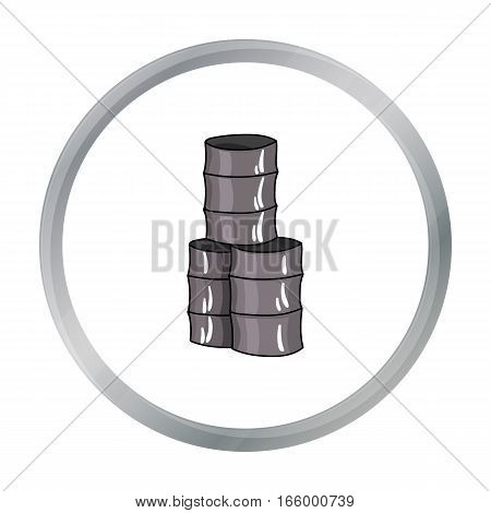 Barricade from barrels icon in cartoon design isolated on white background. Paintball symbol stock vector illustration. - stock vector